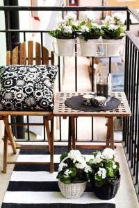 jardineras blanco y negro