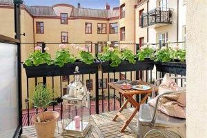 jardineras geranios rosa