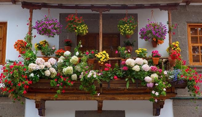 Jardineras esas imprescindibles que alegran nuestros - Maceteros colgantes para balcones ...