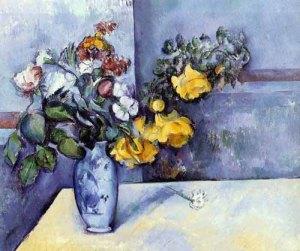 jarrón flores cezanne