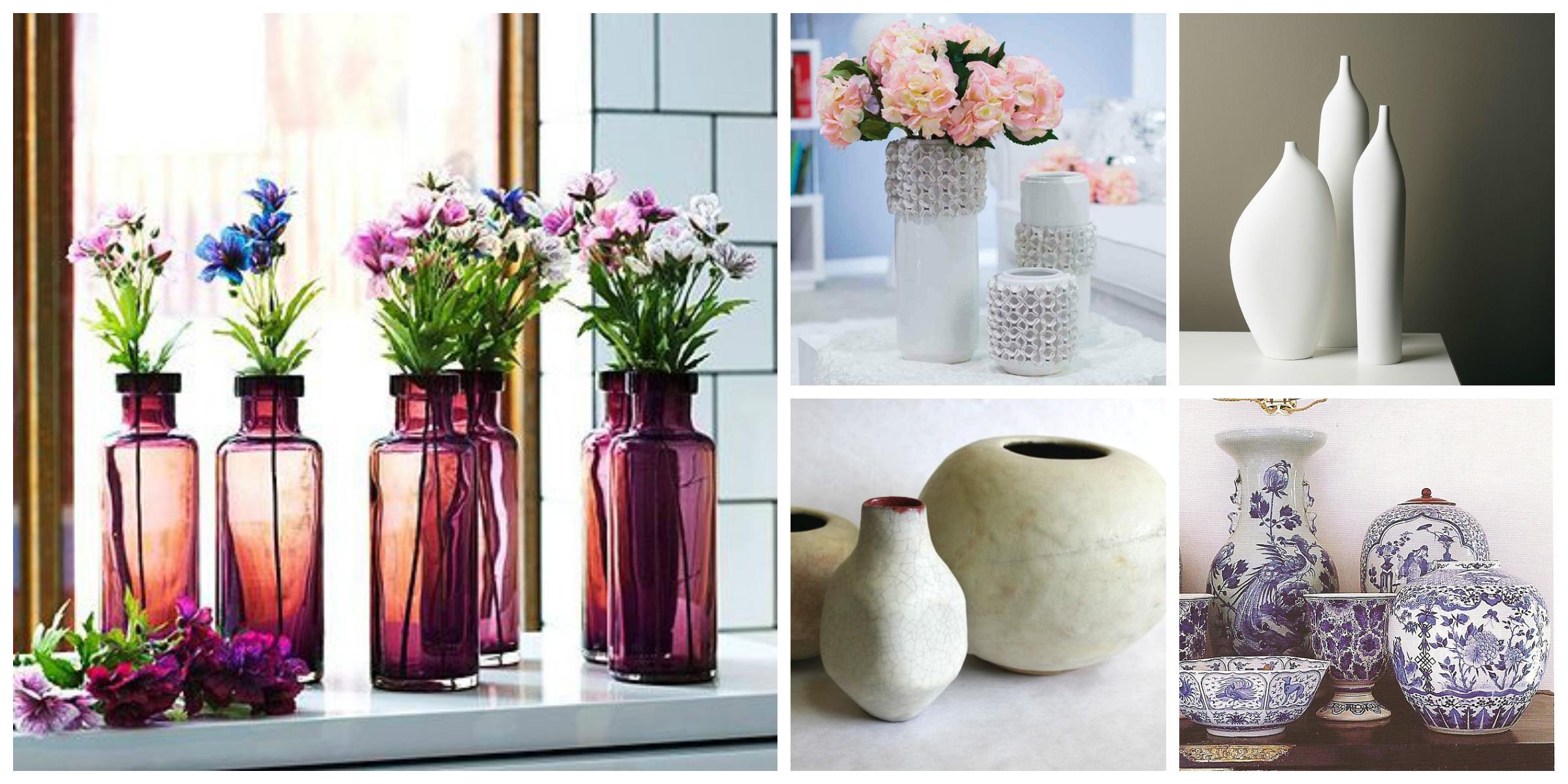 Flores en agua y sint ticas jarrones y floreros for Articulos para decoracion de interiores