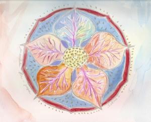 mandala hojas arteterapia