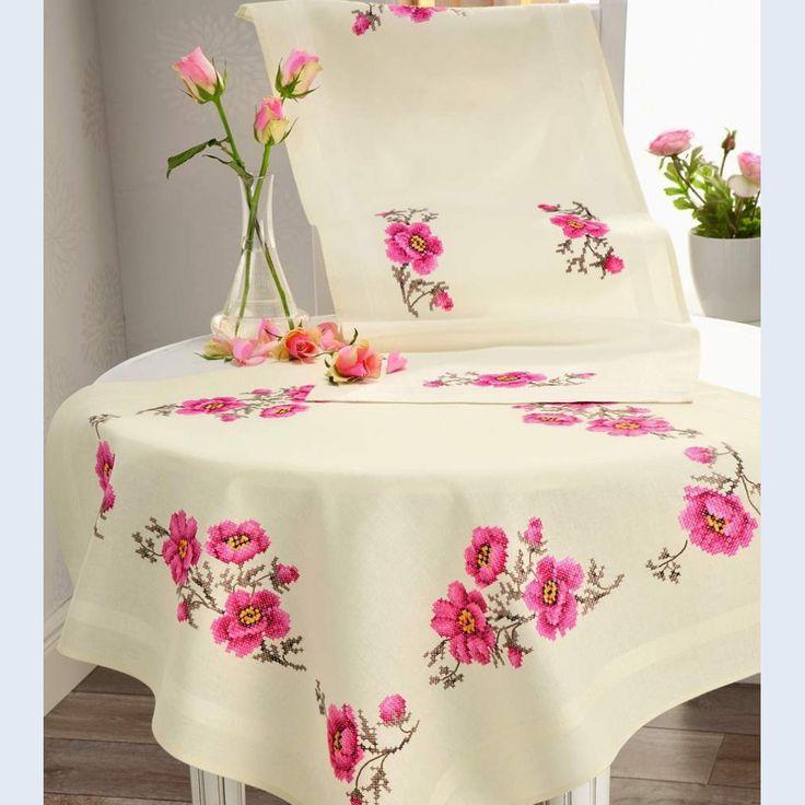 Patrones De Flores Para Bordar Manteles | www.imagenesmy.com