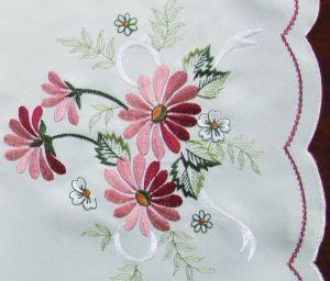 mantel flores rosas
