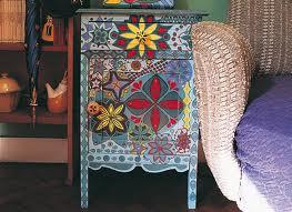 muebles pintado mesilla