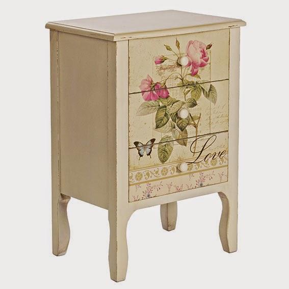 Muebles pintados muebles floreados creciendoentreflores for Muebles de mimbre pintados
