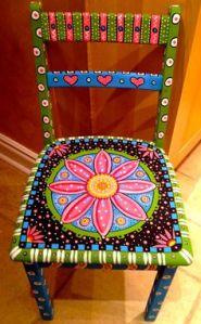 muebles pintados silla sol