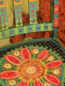 muebles pintados silla