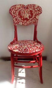 muebles pintados sillas