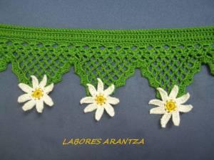 puntilla alacena flores en puntas