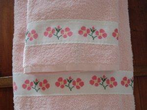 toallas flore spunto de cruz