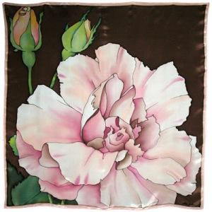 190a Rosa rosa y dos capullos FM