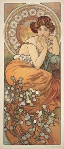 Alphonse-Mucha-The-Precious-Stones-Ruby-Emerald-Amethyst-Topaz1900