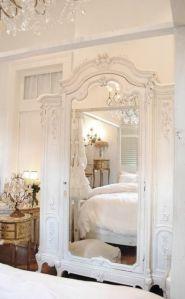 armario flores blanco