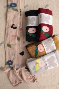 calcetines flor única