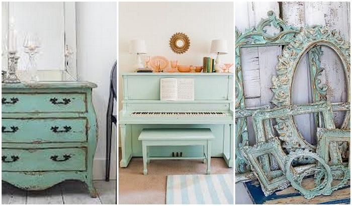 Muebles pintados muebles floreados creciendoentreflores - Mesas pintadas a la tiza ...