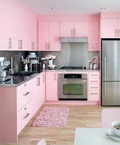 cocina rosa moderna