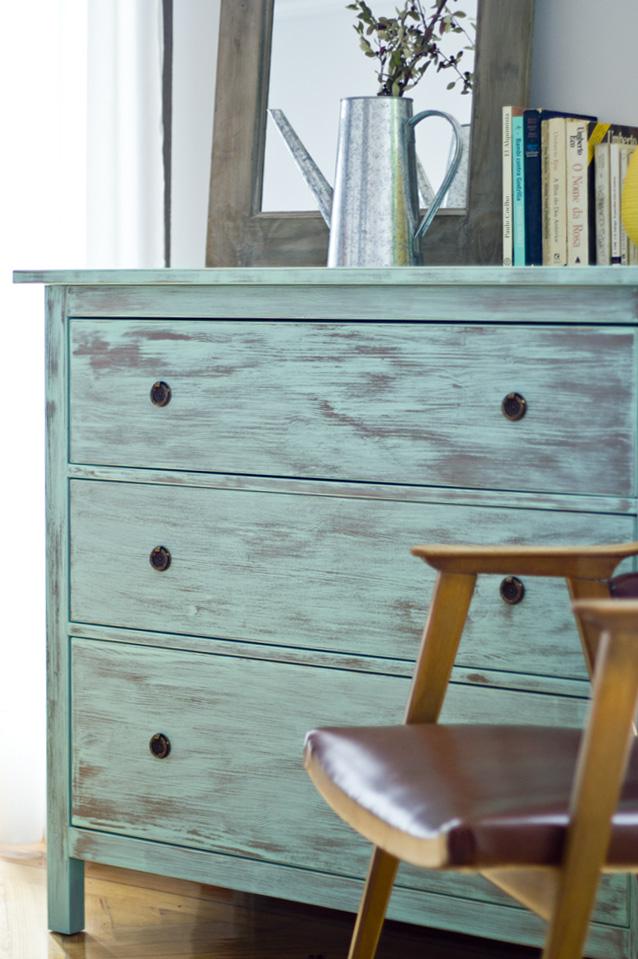 Muebles pintados muebles floreados creciendoentreflores - Pintura ala tiza para muebles ...