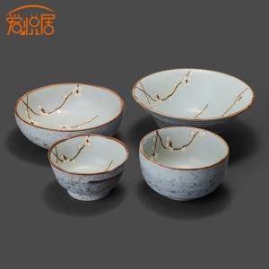 Любовь-Liberte-япония-импортировала-мино-ожог-классический-синий-мами-чаша-миски-японский-керамическая-посуда