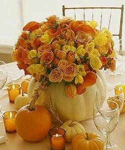 florero naranja