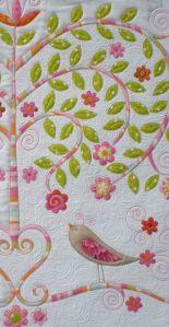flores y pájaros quilt