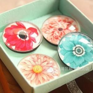 imanes flores cristal