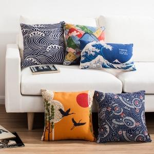 Japanese-Folding-Fan-Pattern-Folk-Retro-Cushion-Linen-font-b-Pillow-b-font-Cushions-Home-Decoration