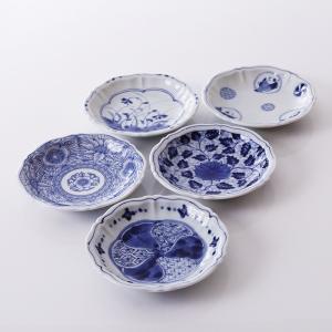 Japón-importó-azul-frío-hall-pulgadas-cerámica-rueda-de-la-flor-trazos-de-azul-y-blanco