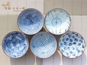 Japón-importó-vajilla-de-cerámica-pintado-cambio-Mino-bluing-5-en-Ohira-tazón-tazón-tazón-de