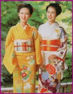 kimono dos geishas