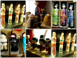 Kokeshi Dolls, Collage 08111 (1)