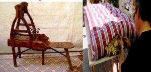 maquina cardaora y colchón