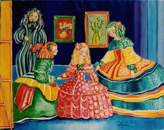 Pasión por el coleccionismo (IV) : Meninas ataviadas con flores ...
