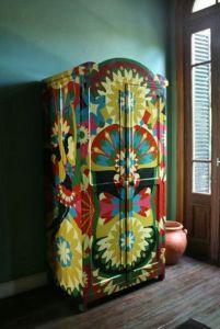 muebeles pintados armario