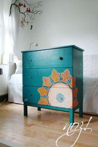 muebles cómoda azul