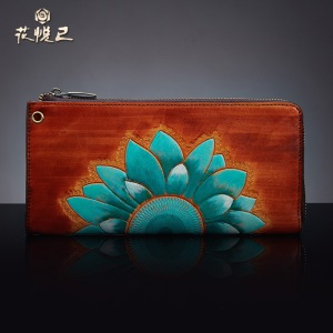 Purse-Sale-Wallets-Flowers-Herself-Handbag-Female-Models-Carved-Handmade-2015-New-100-Genuine-Leather-Luxury