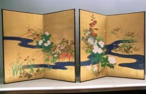 Sakai-Hoitsu-Plantas-y-flores-de-las-Cuatro-Estaciones-y-arroyo-de-agua