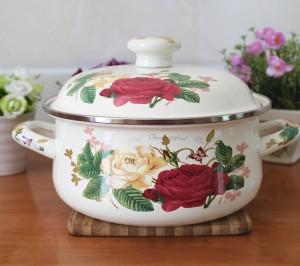 sell-like-hot-cakes-20cm-Full-of-flowers-enamel-font-b-pan-b-font-Enamel-font