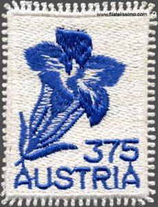 Sello-Petit-Point-o-Medio-Punto-genciana-Austria