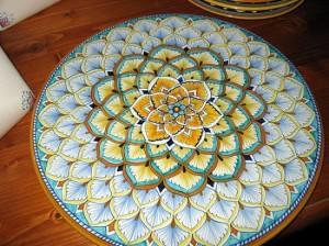 toscana plato flor