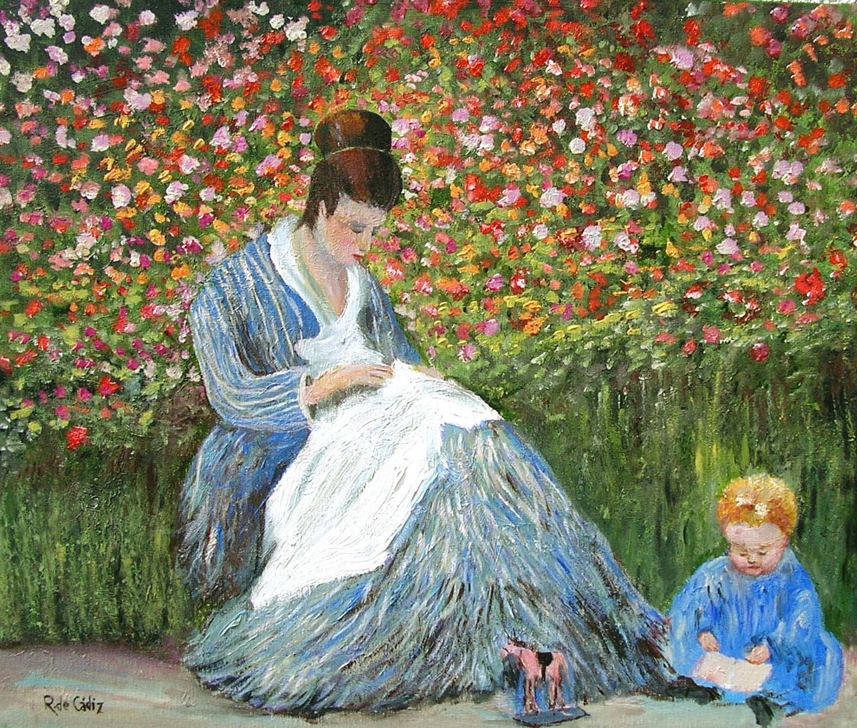 Las flores en la pintura viii un pintor y un apasionado jardinero oscar claude monet - Fotos de cuadros de monet ...