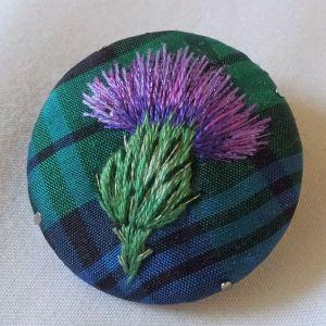 cardo escocés bordado