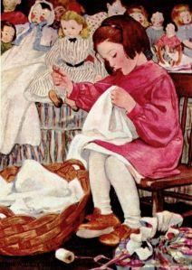 coser niña