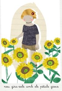 jardienría niños girasoles