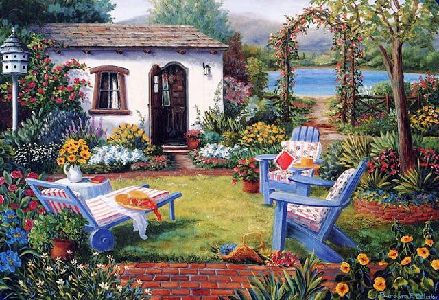 Jardines en la pintura creciendoentreflores for Jardines con encanto fotos
