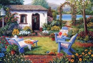 jardines con encanto en la pintura