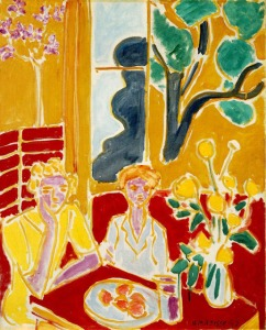 Matisse, Deux fillettes, fond jaune et rouge (2 Girls in Yellow & Red Interior) 1947.jpg
