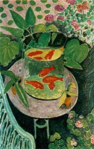11.- Matisse. Bodegón con peces rojos