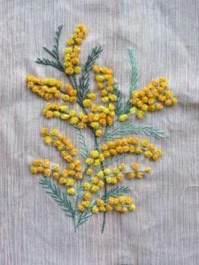 mimosa bordado