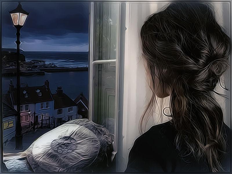 Resultado de imagen para mujer mirando por la ventana